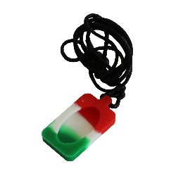 Pendentif - Necklace Rouge Blanc Vert