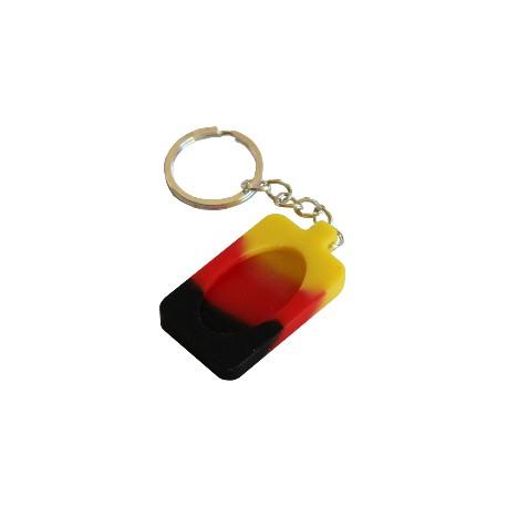 Porte Clé - Jaune Rouge Noir