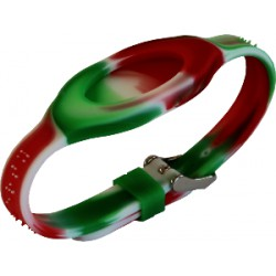 Bracelet - Bandz Vert Blanc Rouge